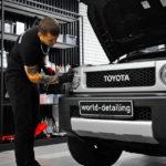 Восстановление передних фар Toyota Fj Cruiser