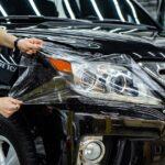 Защитная плёнка фары авто