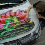 Обтяжка авто виниловой плёнкой