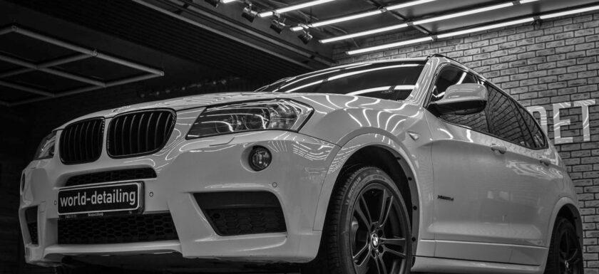 Оклейка автомобиля BMW X3 защитной плёнкой Suntek