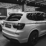 Оклейка автомобиля BMW X3 защитной плёнкой Suntek цена