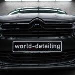 Оклейка автомобиля Citroën в чёрный матовый винил