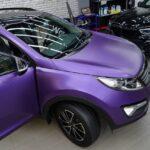 Оклейка автомобиля KIA Sportage плёнкой Oracal
