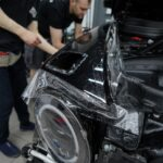 Оклейка антигравийной плёнкой автомобиля Mercedes G 63