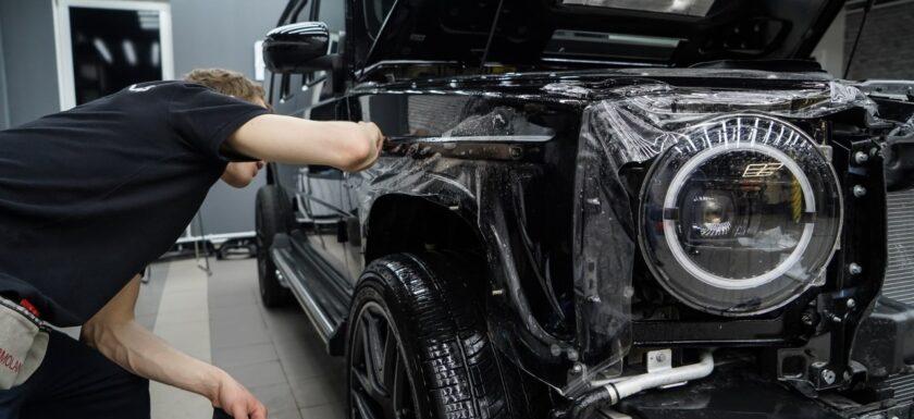 Оклейка кузова автомобиля полиуретаном