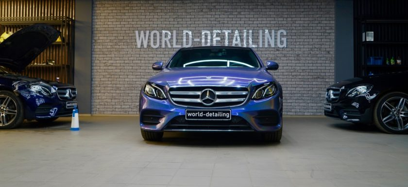 Оклейка кузова автомобиля Mercedes E-class W213 виниловой плёнкой