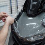 Оклейка мотороллера полиуретановой плёнкой