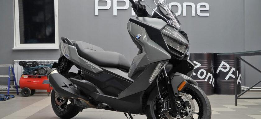 Оклейка полиуретановой плёнкой BMW C400GT