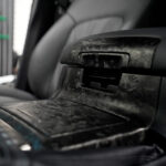 Оклейка салона машины плёнкой под кованный карбон в Москве