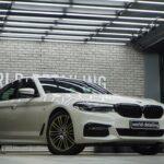 Оклейка BMW 5 антигравийной плёнкой Suntek