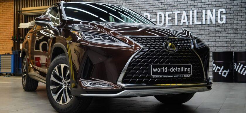 Оклейка Lexus RX антигравийной плёнкой Llumar