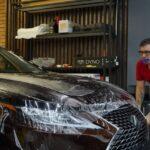 Оклейка Lexus RX антигравийной плёнкой Llumar цена