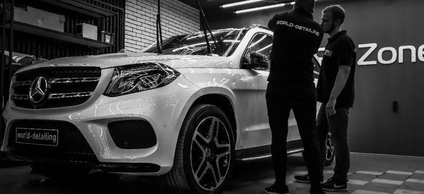 Защита антигравийной плёнкой кузова автомобиля Mercedes GLS 350D