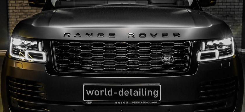 Оклейка автомобиля Range Rover матовой антигравийной плёнкой SunTek