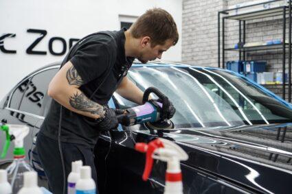Полировка стёкол авто