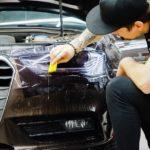 Audi — оклейка фар антигравийной плёнкой