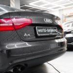 Audi A4 оклейка передних фар плёнкой