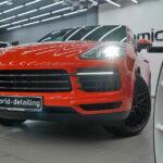 Porsche Cayenne Coupe защита кузова керамикой в Москве